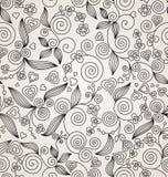 Предпосылка декоративного цветка безшовная Стоковая Фотография RF