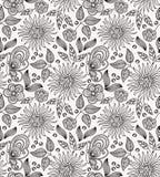 Предпосылка декоративного цветка безшовная Стоковая Фотография