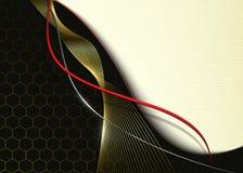 Предпосылка дела, абстрактные волны 3d Стоковое Фото
