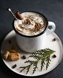 Предпосылка дерева cinnamom рождества какао уютная деревянная стоковые изображения