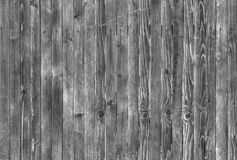 Предпосылка деревянных доск в черно-белом Стоковая Фотография RF