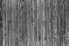 Предпосылка деревянных доск в черно-белом Стоковое Изображение