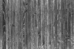 Предпосылка деревянных доск в черно-белом Стоковые Фото