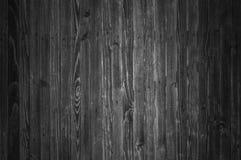 Предпосылка деревянных доск в черно-белом Стоковая Фотография