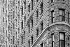 Предпосылка детали архитектуры здания Flatiron в Нью-Йорке Стоковые Изображения RF