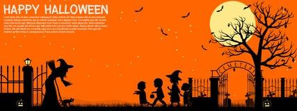 Предпосылка детей хеллоуина Стоковое Фото