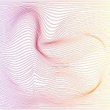 Предпосылка деформации нашивки цвета вектора иллюстрация вектора