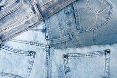 Предпосылка Джина Текстура демикотона джинсовой ткани голубая Стоковое Изображение RF