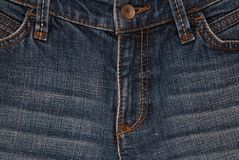 Предпосылка джинсовой ткани Horisontal, текстуры джинсовой ткани, backgro голубых джинсов Стоковые Фото