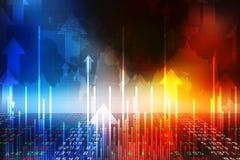 Предпосылка диаграммы дела, диаграмма фондовой биржи, финансовая предпосылка иллюстрация штока