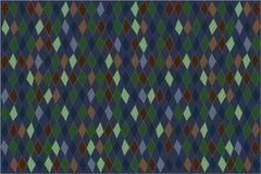 Предпосылка диамантов цифровая в сини, зеленом цвете и umber Стоковое Изображение RF