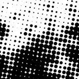 Предпосылка дизайна иллюстрации точек полутонового изображения Иллюстрация предпосылки полутонового изображения черно-белая для л иллюстрация вектора
