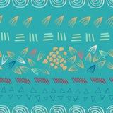 Предпосылка дизайна печати абстрактного ацтекского teal безшовная бесплатная иллюстрация