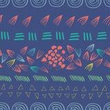 Предпосылка дизайна печати конспекта ацтекская пурпурная безшовная бесплатная иллюстрация