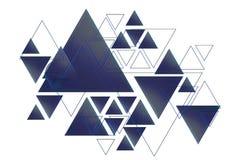 Предпосылка дизайна треугольника стоковое изображение rf