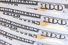 Предпосылка для конструкции 100 концов-вверх долларовых банкнот Стоковые Изображения RF
