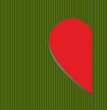 Предпосылка для любовников. Зеленый цвет и красный цвет Стоковые Фотографии RF