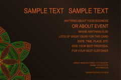 Предпосылка для плаката события, подарочного купона, карточки приглашения, рамки рекламы и для серий ваших отличных идей вектор Стоковые Изображения