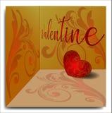 Предпосылка дня Валентайн с флористическим орнаментом стоковые изображения rf