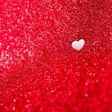 Предпосылка дня валентинок с красным ярким блеском Стоковая Фотография RF