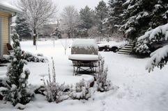 Предпосылка дня зимы снежная Стоковая Фотография RF
