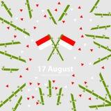 Предпосылка Дня независимости 17-ое августа Индонезии Иллюстрация вектора флагов Стоковые Изображения RF