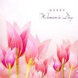 Предпосылка дня счастливых женщин Стоковые Изображения