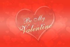 Предпосылка дня Valentine с сердцем Стоковые Изображения RF