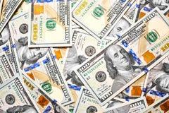 Предпосылка 100 долларовых банкнот Американец денег 100 bi доллара Стоковые Фото