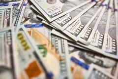 Предпосылка 100 долларовых банкнот Американец денег 100 bi доллара Стоковая Фотография RF