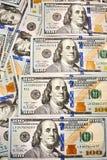 Предпосылка 100 долларовых банкнот Американец денег 100 bi доллара Стоковые Изображения RF
