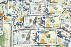 Предпосылка 100 долларовых банкнот Американец денег 100 bi доллара Стоковое Изображение