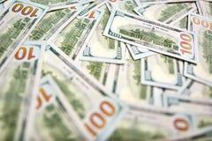 Предпосылка 100 долларовых банкнот Американец денег 100 bi доллара Стоковые Фотографии RF
