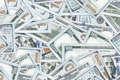 Предпосылка 100 долларовых банкнот Стоковые Изображения RF