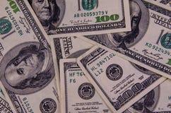 Предпосылка 100 долларов счетов Стоковые Изображения