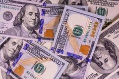 Предпосылка 100 долларов счетов Стоковые Изображения RF