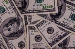 Предпосылка 100 долларов счетов Стоковые Фото