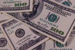 Предпосылка 100 долларов счетов Стоковое Изображение