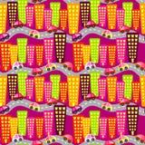 Предпосылка дорожного движения города безшовная бесплатная иллюстрация