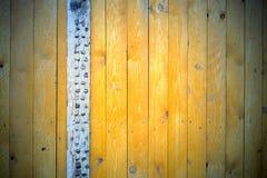 Предпосылка доск покрашенных желтым цветом Стоковые Фотографии RF