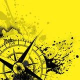 Предпосылка желтого цвета розы ветра Стоковая Фотография RF