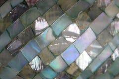 Предпосылка жемчуга с мозаикой фрактали голубой и mauve мерцающей стоковое фото rf