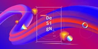 Предпосылка жидкостного цвета геометрическая Стоковые Фото