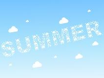 предпосылка заволакивает безшовное лето Стоковые Изображения