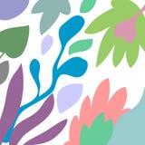 Предпосылка заголовка вектора абстрактная художническая флористическая Стоковые Фото