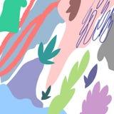 Предпосылка заголовка вектора абстрактная художническая флористическая Стоковые Изображения RF