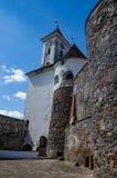 Предпосылка замка Shenborn в украинских прикарпатских горах Стоковое Фото