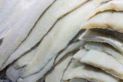Предпосылка замороженных филе рыб белых разнообразий Стоковое Изображение RF