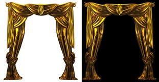 Предпосылка занавеса золота Стоковая Фотография
