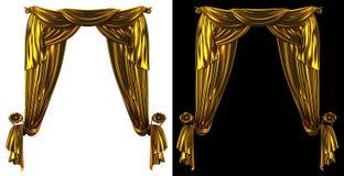 Предпосылка занавеса золота Стоковое Изображение